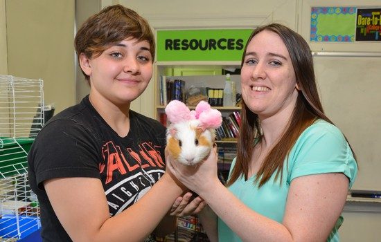 Animal Sciences, Students with a Rabbit