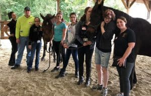Equestrian Program, Students with Horses