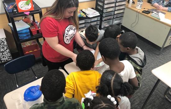 Castle Program Teacher with Students